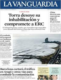 Portada La Vanguardia 2020-01-24