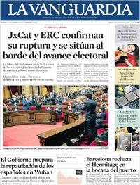 Portada La Vanguardia 2020-01-28