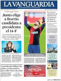 Portada La Vanguardia 2020-11-30