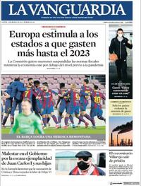 Portada La Vanguardia 2021-03-04