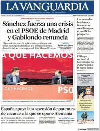 Portada La Vanguardia 2021-05-07