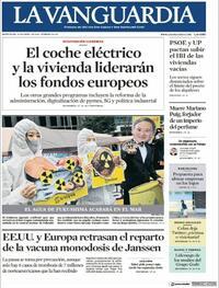Portada La Vanguardia 2021-04-14