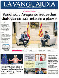 Portada La Vanguardia 2021-09-16