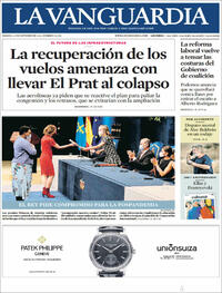 Portada La Vanguardia 2021-10-23