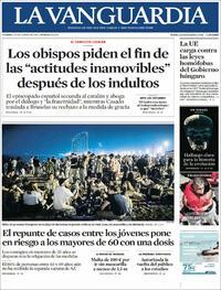 Portada La Vanguardia 2021-06-25