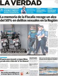 Portada La Verdad 2019-07-16