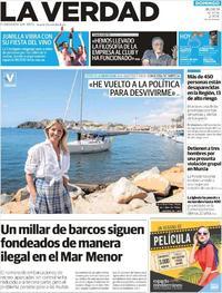 Portada La Verdad 2019-08-18