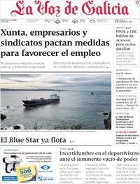 Portada La Voz de Galicia 2019-12-11