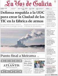 Portada La Voz de Galicia 2019-01-17
