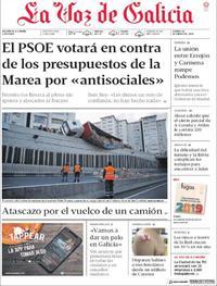 Portada La Voz de Galicia 2019-01-18