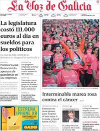 Portada La Voz de Galicia 2019-09-23