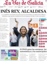 Portada La Voz de Galicia 2019-05-27