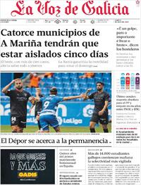 Portada La Voz de Galicia 2020-07-06
