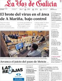 Portada La Voz de Galicia 2020-07-07