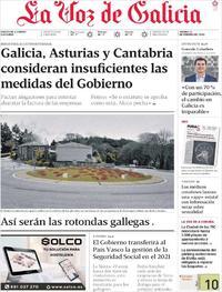 Portada La Voz de Galicia 2020-02-21