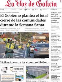 Portada La Voz de Galicia 2021-03-04