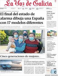 Portada La Voz de Galicia 2021-05-08