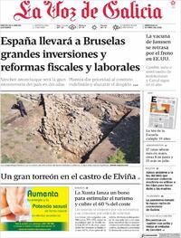 Portada La Voz de Galicia 2021-04-14