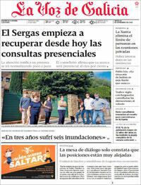 Portada La Voz de Galicia 2021-09-16