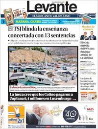 Portada Levante 2018-05-26