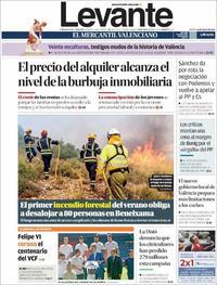 Portada Levante 2019-07-16