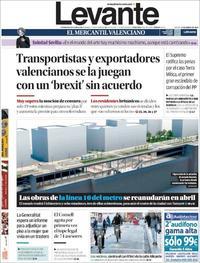 Portada Levante 2019-01-17