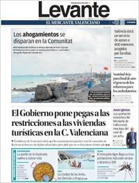 Portada Levante 2019-08-20