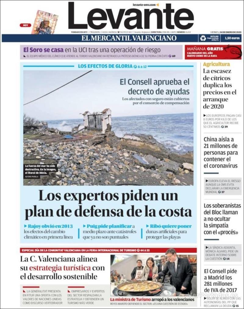 Portada Faro de Vigo 2020-01-24