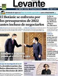 Portada Levante 2021-09-16