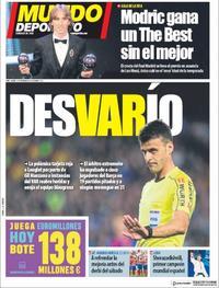 Portada Mundo Deportivo 2018-09-25