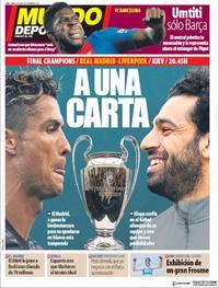 Portada Mundo Deportivo 2018-05-26