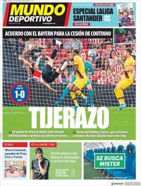 Portada Mundo Deportivo 2019-08-17