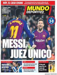 Portada Mundo Deportivo 2019-01-18