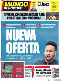Portada Mundo Deportivo 2019-08-20