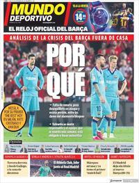 Portada Mundo Deportivo 2019-09-23