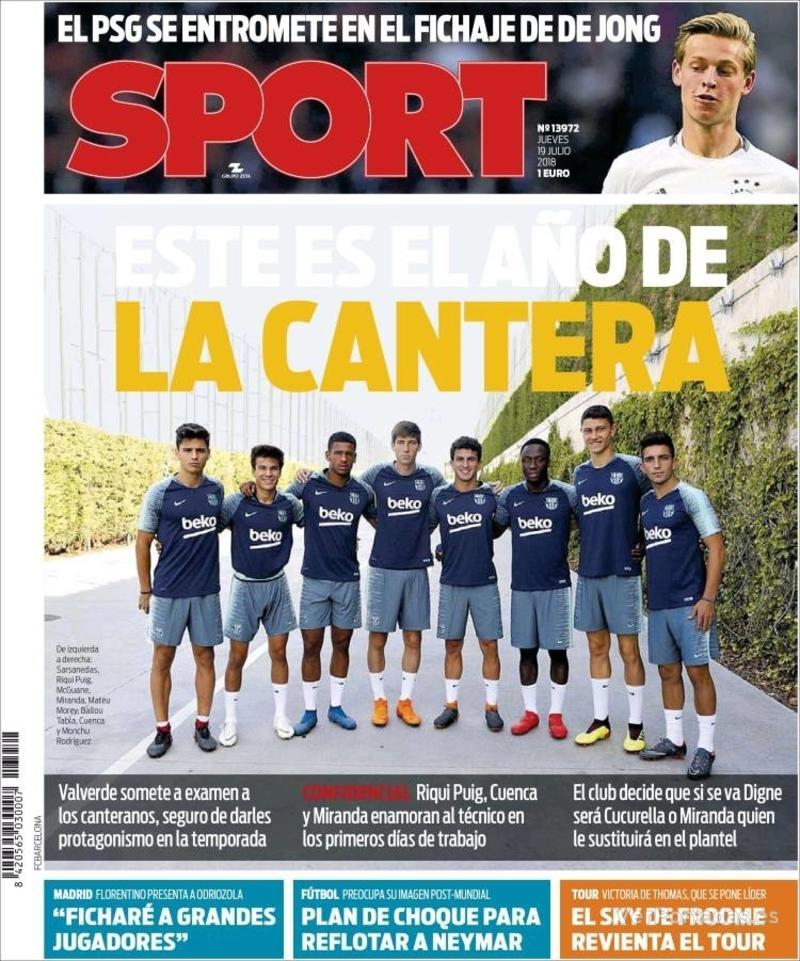 Portada Sport 2018-07-19