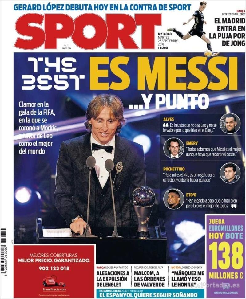 Portada Sport 2018-09-25