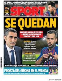 Portada Sport 2019-01-17