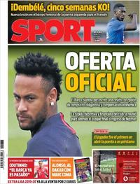 Portada Sport 2019-08-20