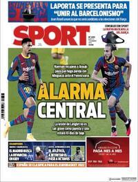 Portada Sport 2020-12-01