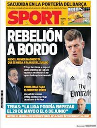 Portada Sport 2020-04-08