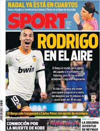 Portada Sport 2020-01-28