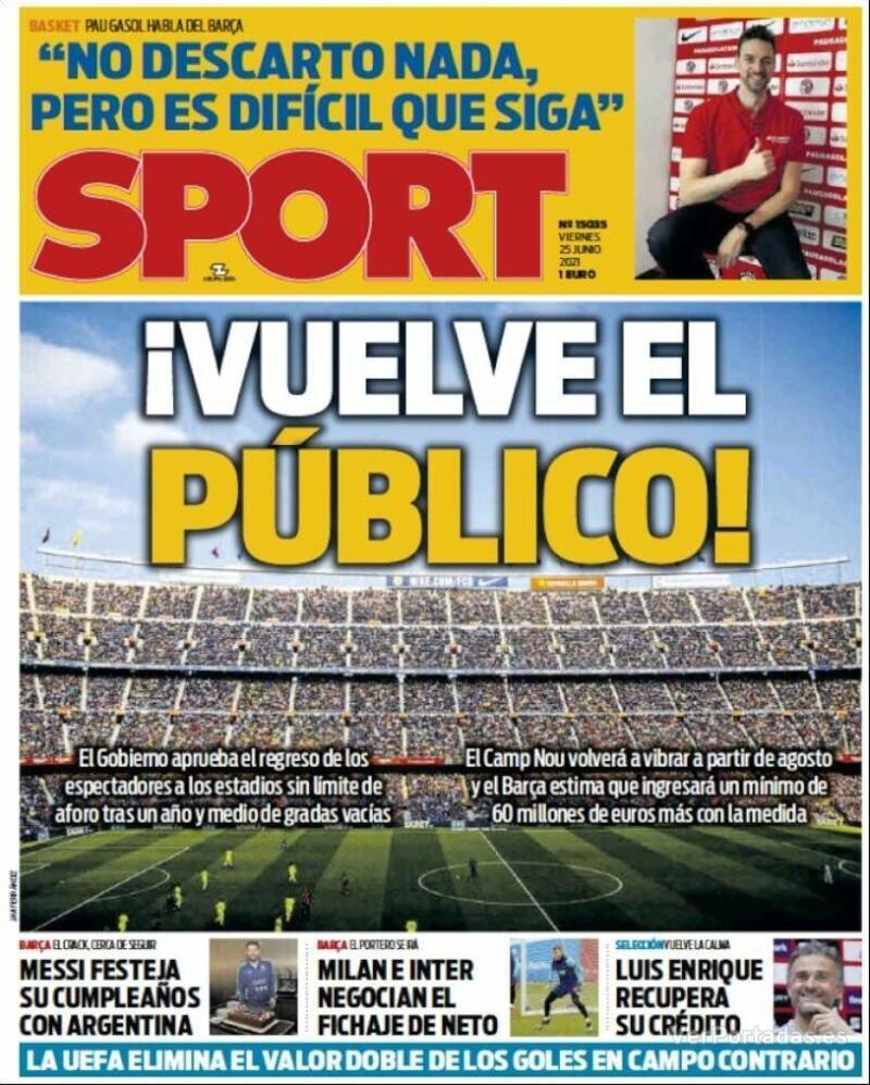 Portada Mundo Deportivo 2021-06-25