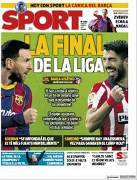Portada Sport 2021-05-08