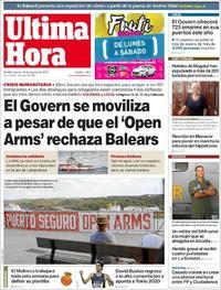Portada Última Hora 2019-08-20