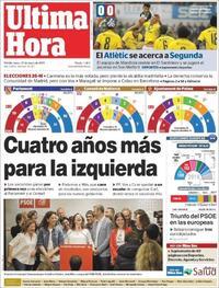 Portada Última Hora 2019-05-27